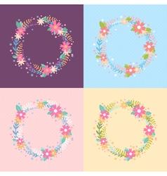Elegant floral wreath card vector image vector image