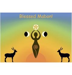 mabon greeting card vector image