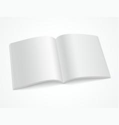 open blank brochure or magazine vector image