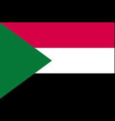 sudan flag flat vector image