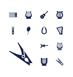 13 string icons vector