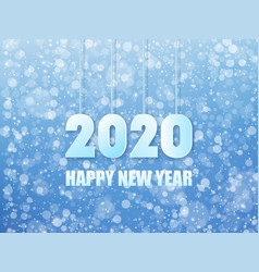 2020 happy new year background vector image