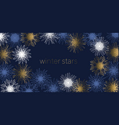 abstract sketch style snowflakes elements vector image