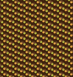 Acorn pattern on brown vector