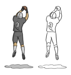 american football player number three jumping vector image