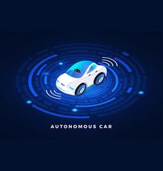 Autonomous car conceept vector