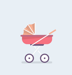 baby carriage pram stroll flat editable vector image