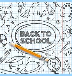 back to school banner template hand drawn vector image