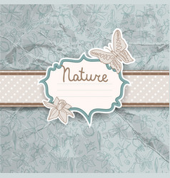 beautiful flowers and butterflies background vector image