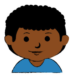 black little boy character vector image