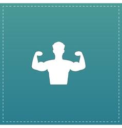 Bodybuilder Fitness Model icon vector image