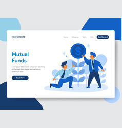 businessman and mutual funds concept vector image