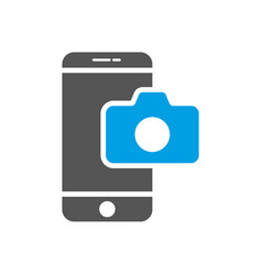 Camera application smartphone modern smartphone vector
