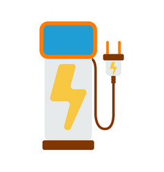 Car charger icon energy label for web on white vector