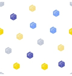 Carton Box Seamless Flat Pattern vector image