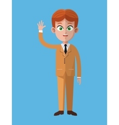 Cartoon business man executive work vector