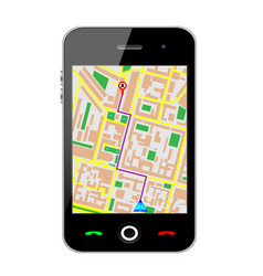 Cellphone gps vector