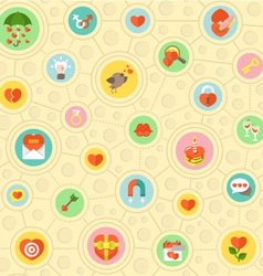 Circular Love Pattern vector image