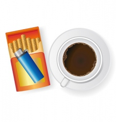 coffee and cigarettes vector image