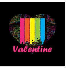 colorful happy valentine vector image