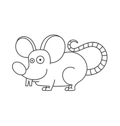 Coloring book mouse - isolated on white vector