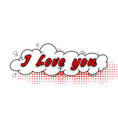 Comic collection i love you 3d colored sound chat vector