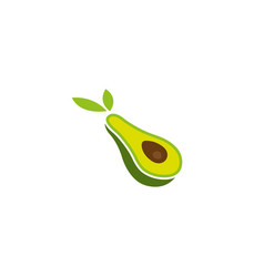 creative avocado fruit logo vector image