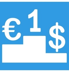 Currency competition icon vector