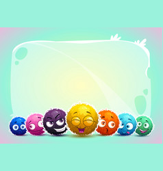 cute childish banner with funny characters vector image