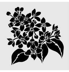 Decorative lilac vector