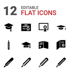 degree icons vector image