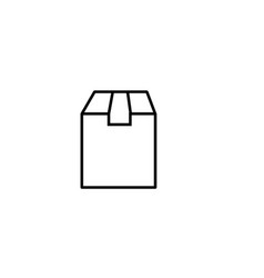 delivery box icon vector image