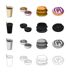Dessert cafe restaurant and other web icon in vector