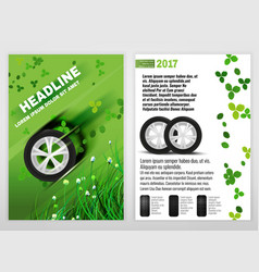 Ecological tyre brochure vector