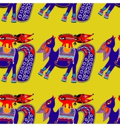 ethnic seamless pattern fabric with unusual tribal vector image