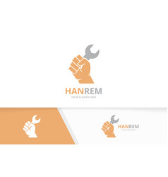 fist and repair logo combination hand and vector image