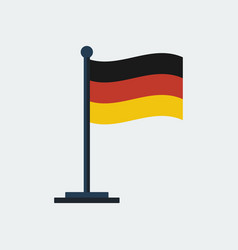 flag of germany flag stand vector image
