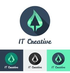 flat minimalistic it or design studio logo vector image