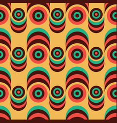 Geometric 70s retro vintage style seamless vector