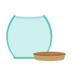 glass jar empty with cap icon vector image