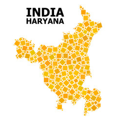 Golden rotated square pattern map haryana state vector