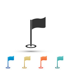 golf flag icon isolated on white background vector image