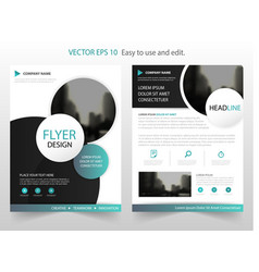 Green circle annual brochure design template vector