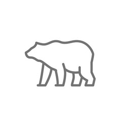 Grizzly bear line icon vector