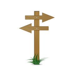Guidepost and pointing wooden arrows index vector