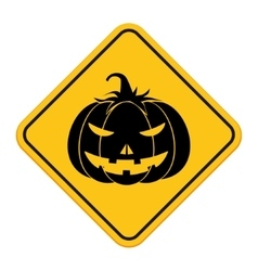 Halloween pumpkin sign vector image