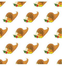 horn of plenty pattern vector image