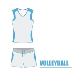 Isolated volleyball uniform vector image