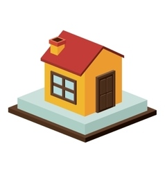 Isometric house and home building design vector