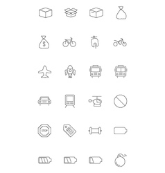Line icons 9 vector